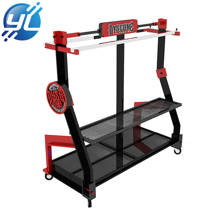Multi-function display rack for clothing/shoes/hats