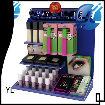 YL good quality cosmetic display rack optimal for cosmetics stores