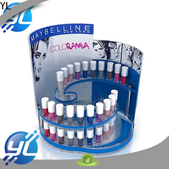 good quality makeup display rack manufacturer for retail shop
