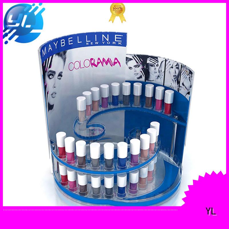 durable cosmetic display rack makeup shops