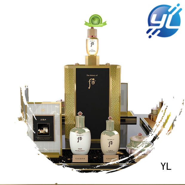 YL durable cosmetic display rack ideal for cosmetics stores