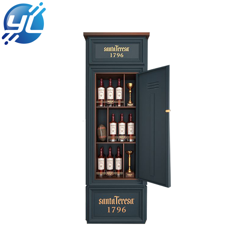 European classic wooden wine display stand