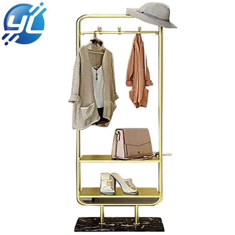 Gold Stainless Steel Display Rack Metal Display Stands