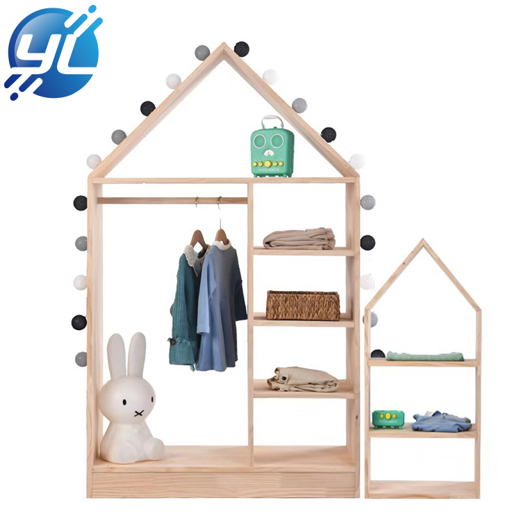Customized Hot Sale High End Clothes Wooden Display Stand