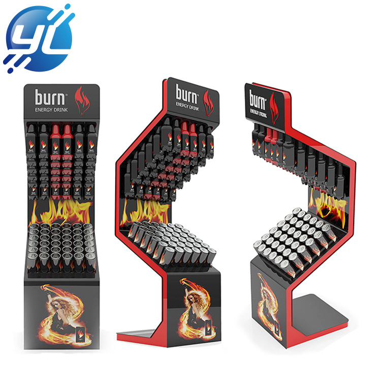 Fire-like Energy Drink Display Stand