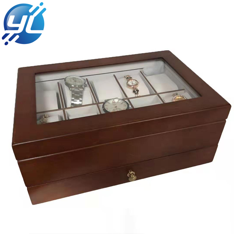 Custom Promotional Gift Natural Wooden Watch Display Box