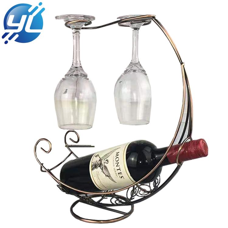 High-grade J - Style Single-bottle Wire Metal Red Wine Rack