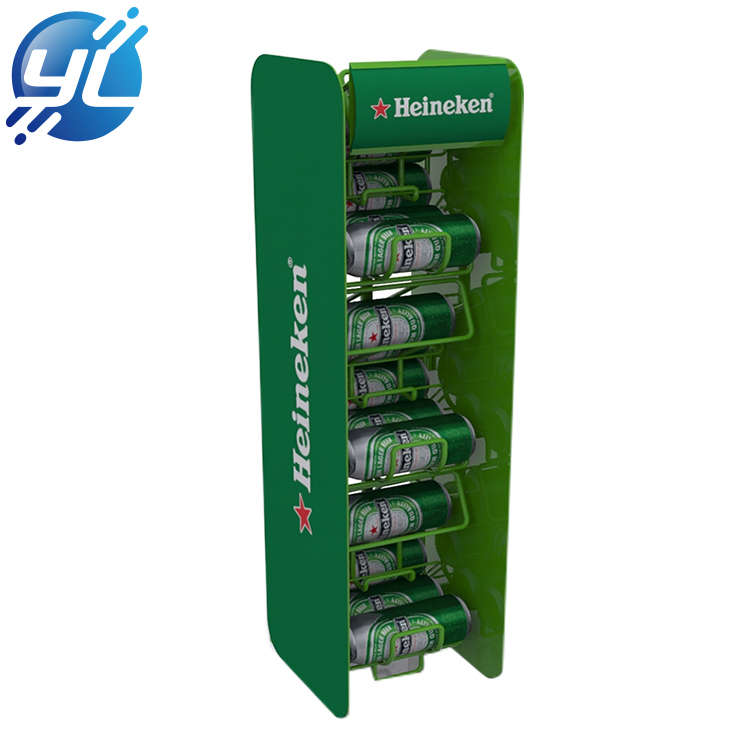 Multi-layer green wire storage wine metal display rack