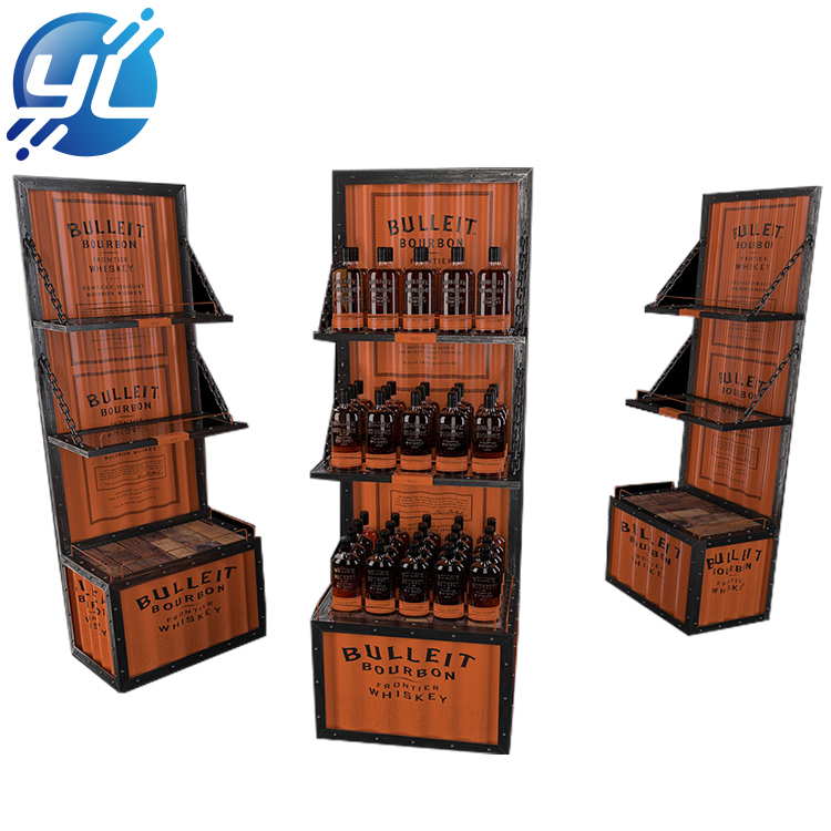 Factory custom bar wine display rack
