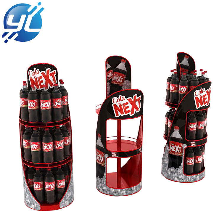 New design customized printed iron metal display stand for beverage