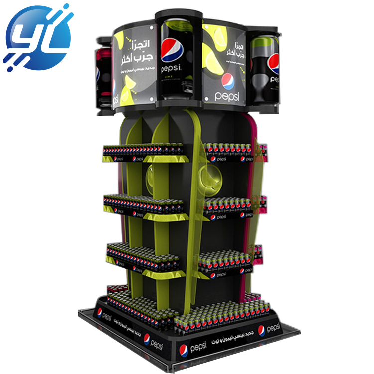 Supermarket custom drinks stainless steel popular display stand