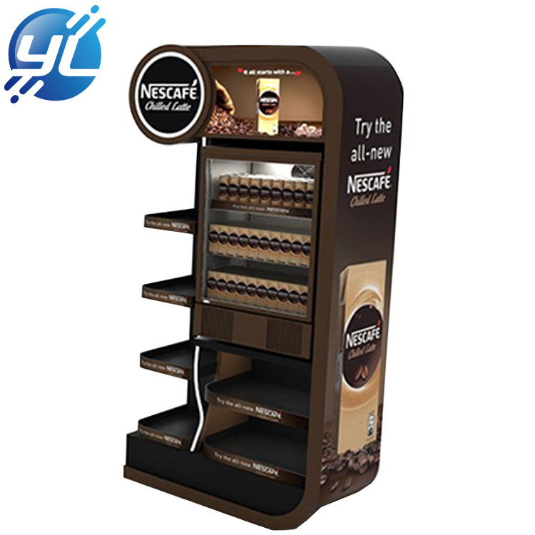Custom painted stainless steel coffee display rack