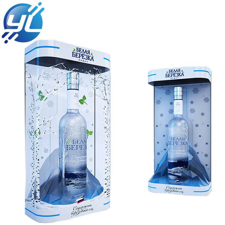 Customized acrylic logo display case display box with water