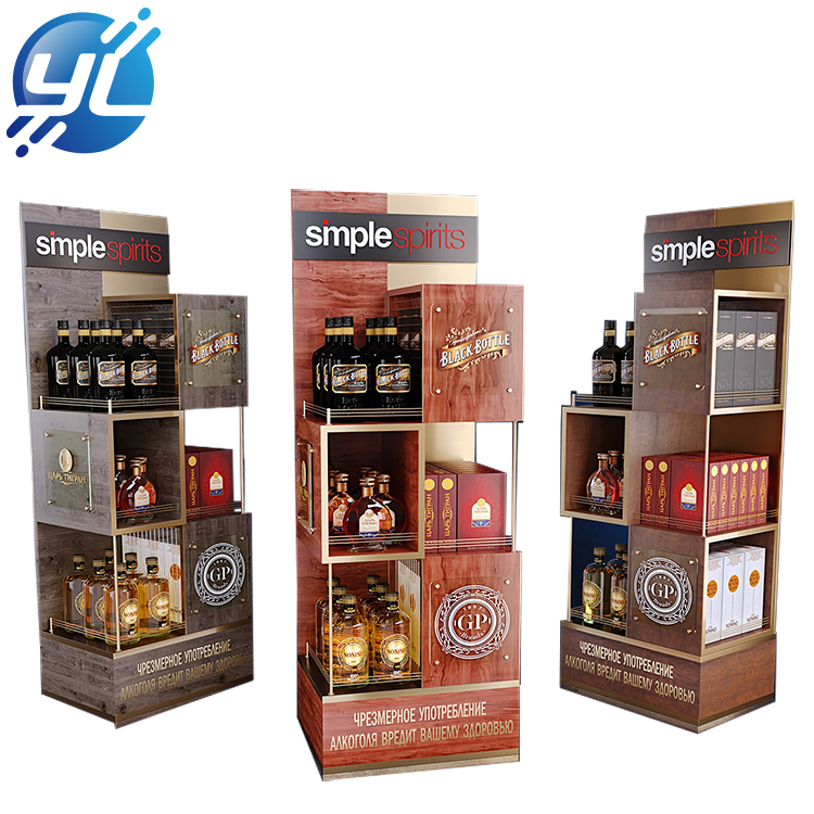 Practical POP Floor Whisky XO Wine Display Rack