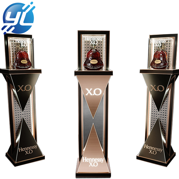 High-end  stainless steel xo wine display stand , modern wine shelf