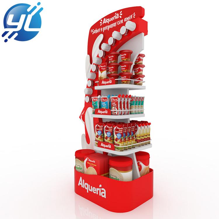 Supermarket Promotion Biscuit Metal Snack Display Stand