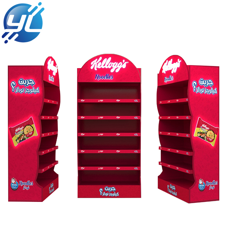 POP Wood Display Stand For Instant Noodles Advertising At Supermarket