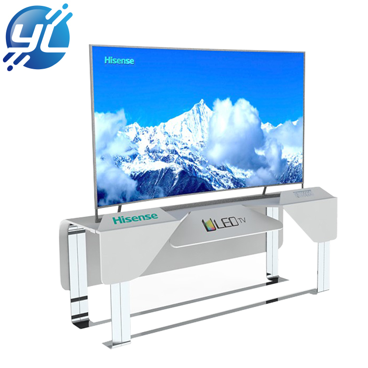 Electrical display design stainless steel TV showcase TV display stand