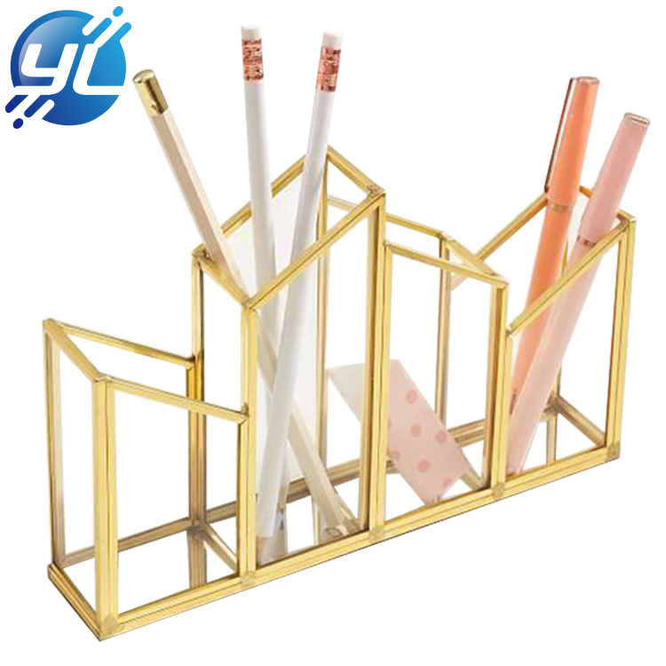 Fancy Crystal Desk Makeup Brush Display Stand Rack