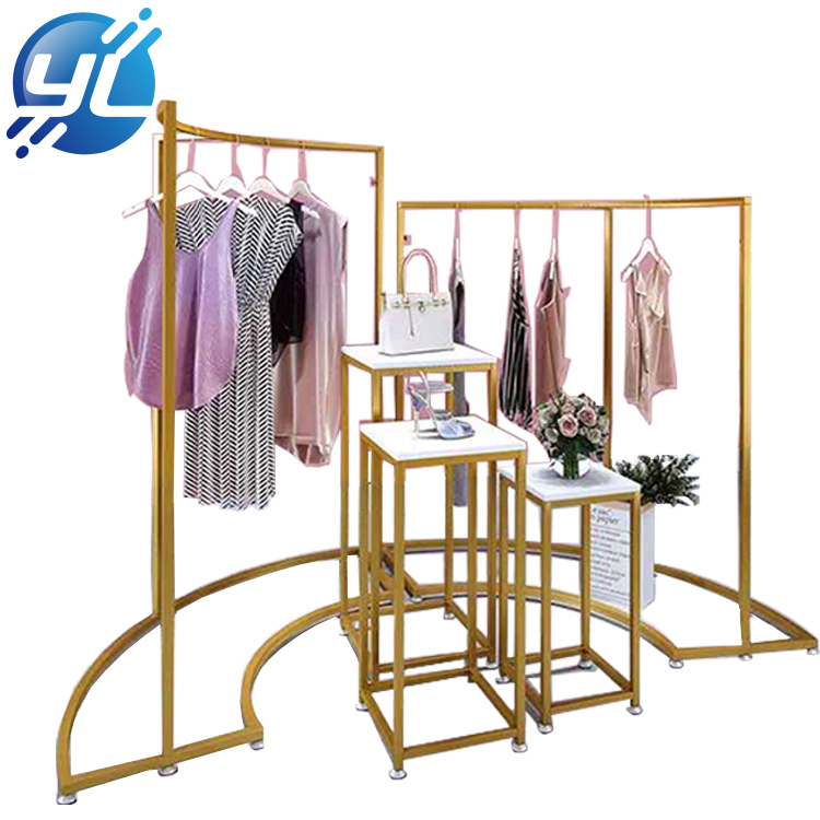 Luxury Interior Design Mall Layout Metal Clothing Display RackRack