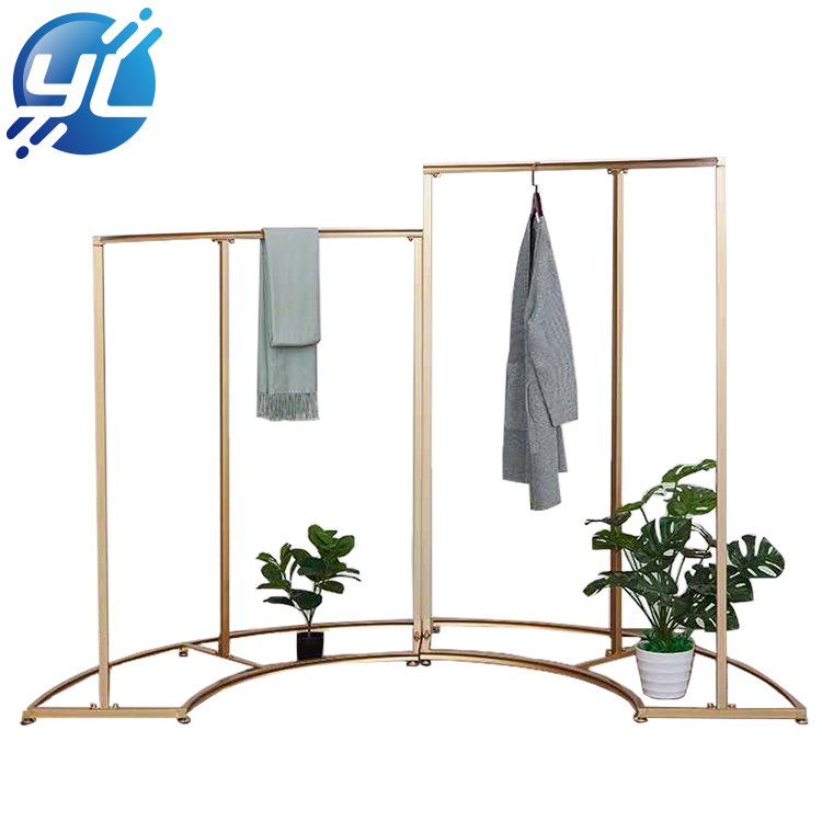 Customized Metal Floor Display Stand Woman Clothing Display Rack