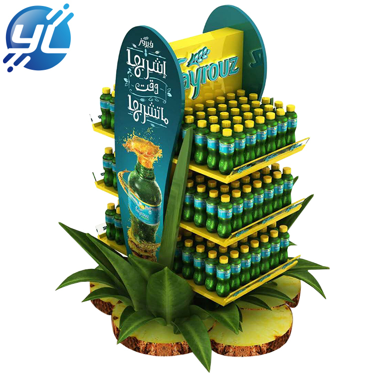 Cheap Price New Structure Metal Beverage Display Rack Wholesale