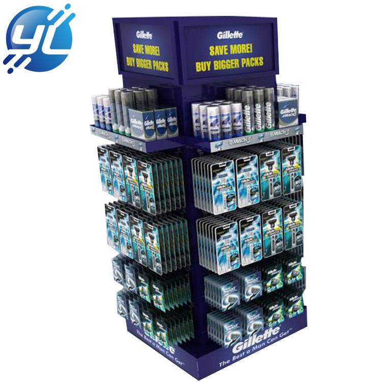 Supermarket Shelf Hot Sale Purple Wooden Shaver Display Rack