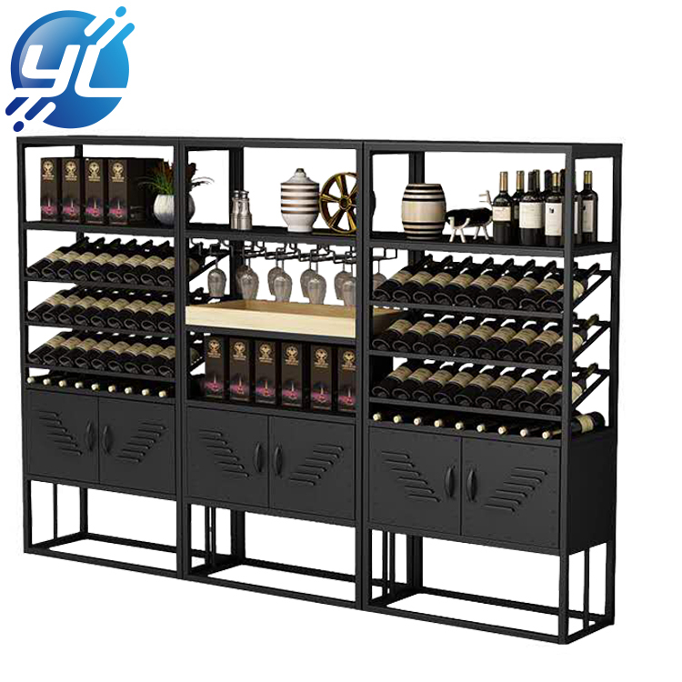 Modern design storage wooden wine cabinet for household furniture