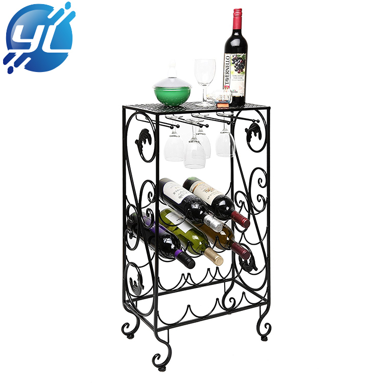Iron Wire Material Merchandise Wine Display Stand