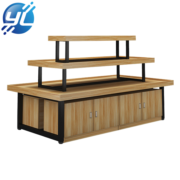 Manufacturers direct solid wood clothing and shoes display rack