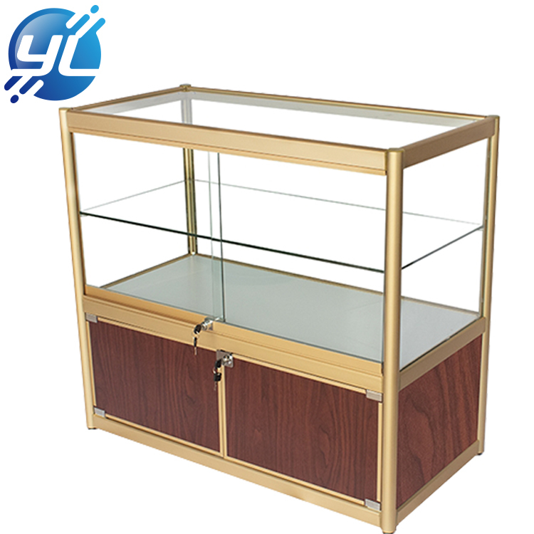 Custom Tradeshow Free Stand Fashion Design Diamond Accessories Jewelry Display Table Cabinet Showcase