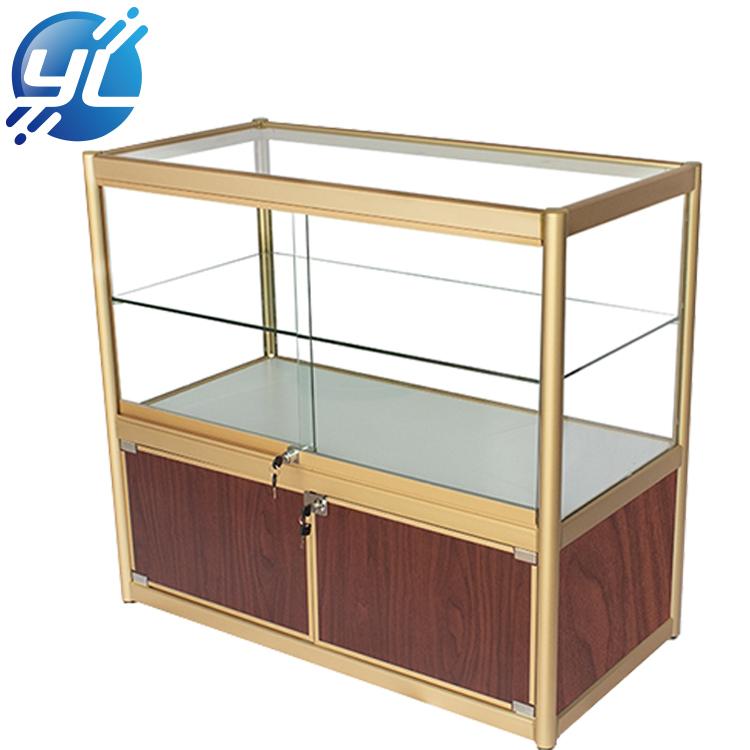 Custom Tradeshow Free Stand Fashion Design Diamond Accessories Jewelry Display Table Cabinet Showcase