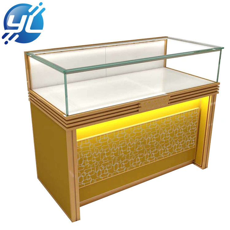 Custom Tradeshow Free Stand Fashion Design Diamond Accessories Jewelry Display Floor Cabinet Showcase