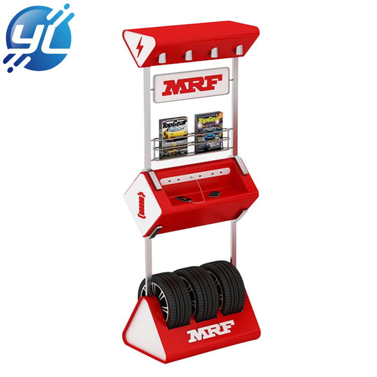 Hot Sale Tire Store Display Stand Metal Display Rack Floor Tire display standlay stand