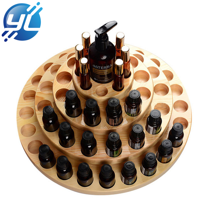 China New Design Trade Assurance Wooden Cosmetics Display Stand for Bottles