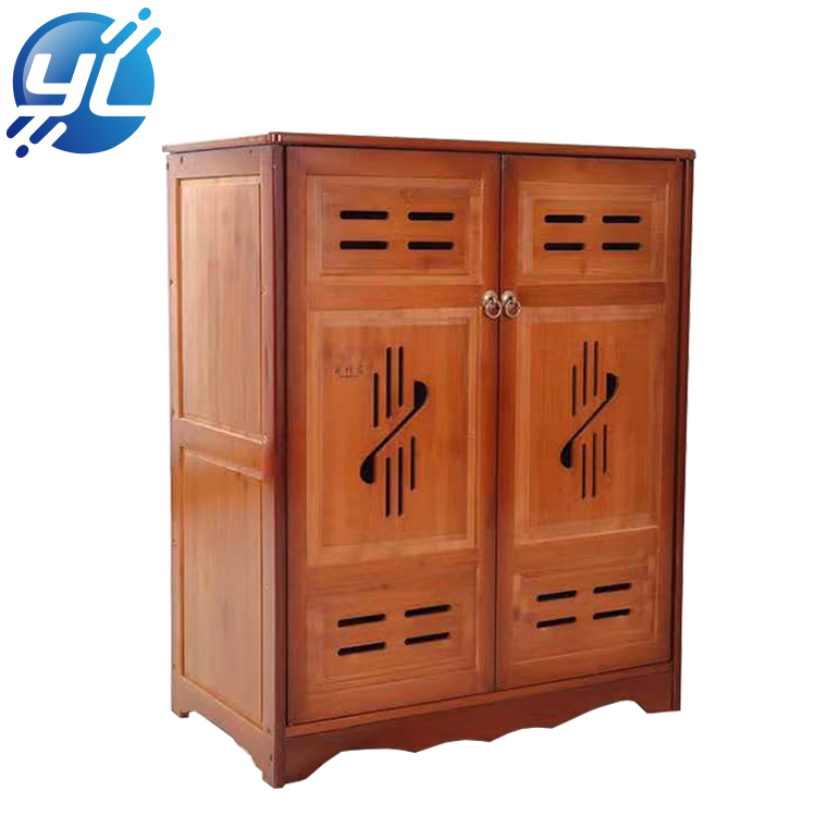 Factory Wholesale Price Wooden Shoe Rack Display Stand Cabinet