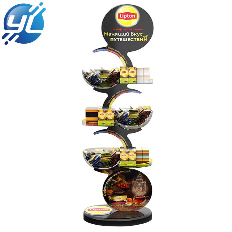 Custom Acrylic Stand Supermarket Shopping Cookies Display Rack
