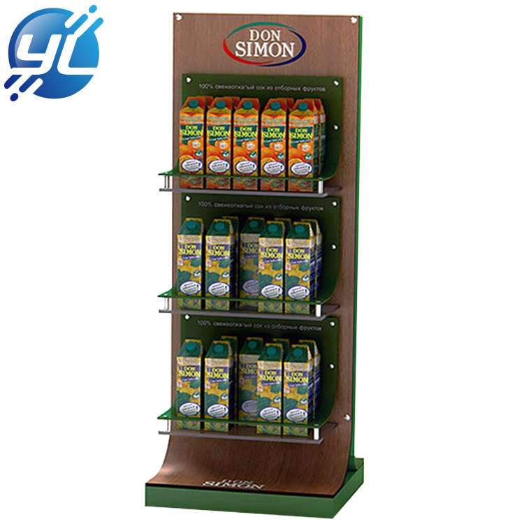 Point Of Sales Custom Metal Snack Display Stand Beverage Display Rack