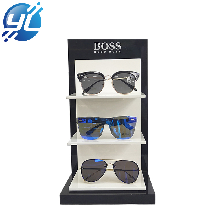 OEM Retail Store Sunglasses Display Racks Eyewear Wooden Display Stand