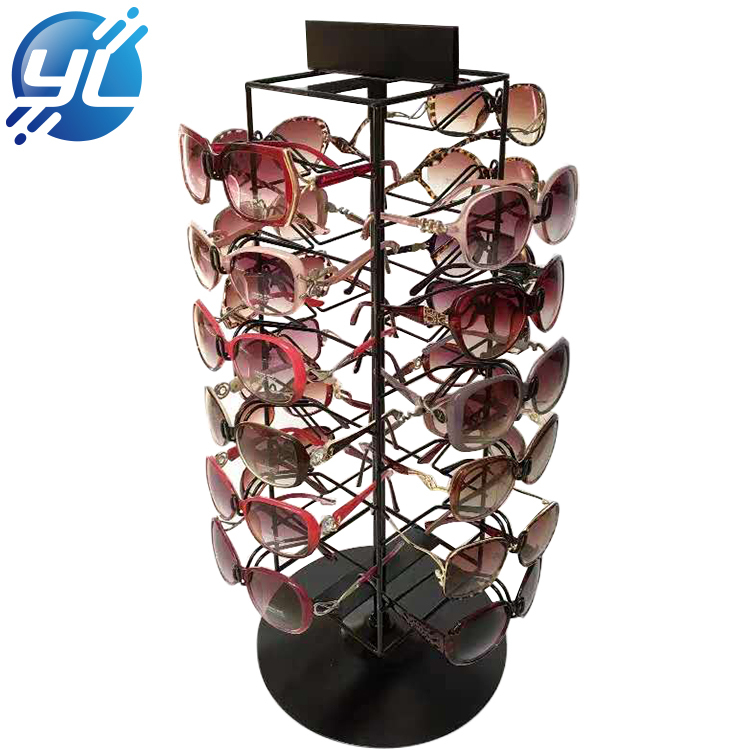 2020 Wood Material Custom Portable Sunglass Display Pop Innovate Sunglasses Display Stand