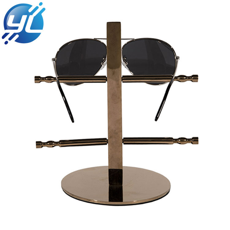Customized Counter Stainless Steel Glasses Display Stand