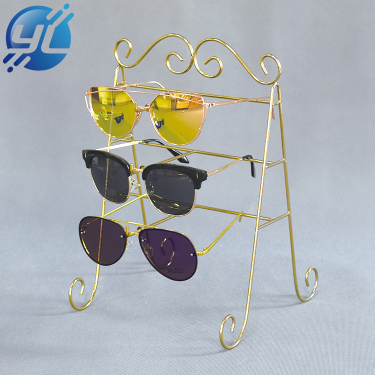 Customized Metal Alloy Counter Display Stand For Glasses