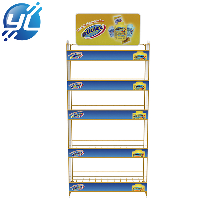 Flooring Stand supermarket food beverage metal shelves wire display stand