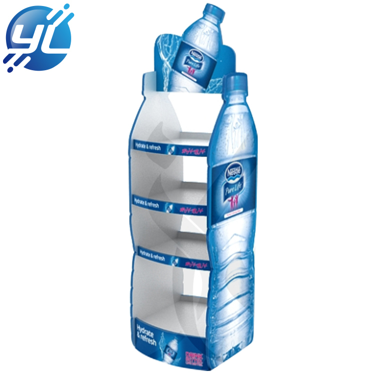 New Design PVC Water Bottle Display Stand Rack Wholesale