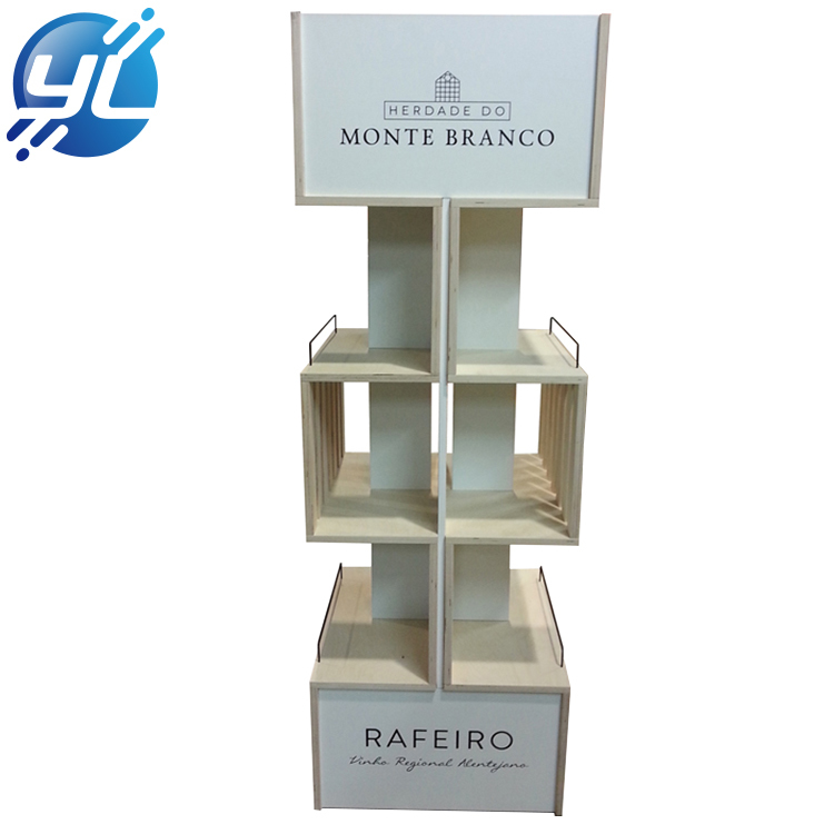 2020 Eco-Friendly Wine Display Wooden Wine Bottles Display Rack
