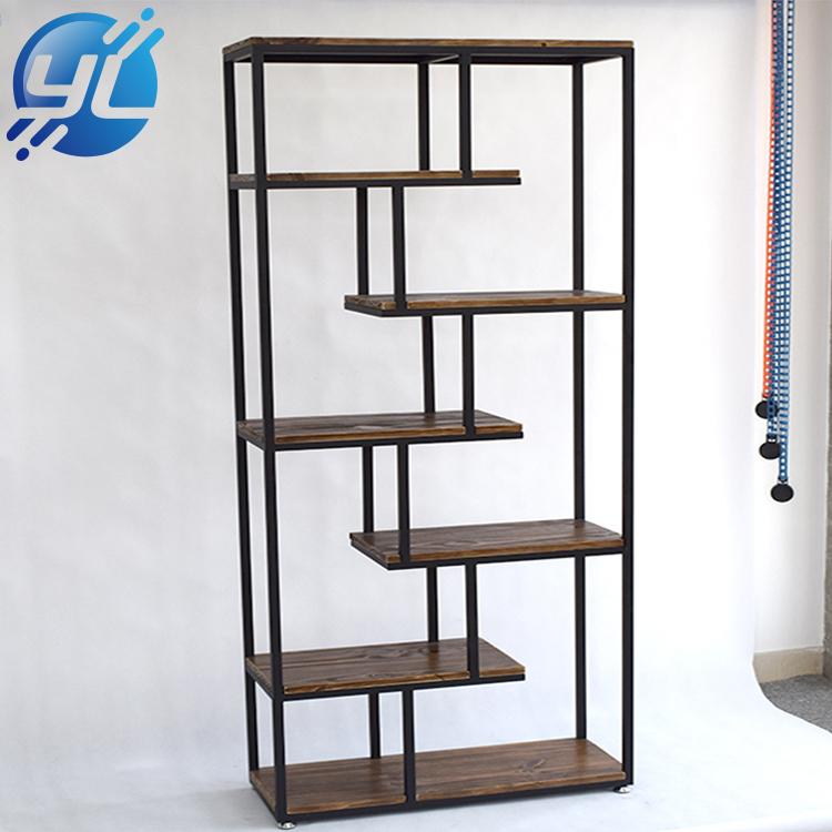 Modern Clothing Shop Retail Display Racks Wood Display Shelves