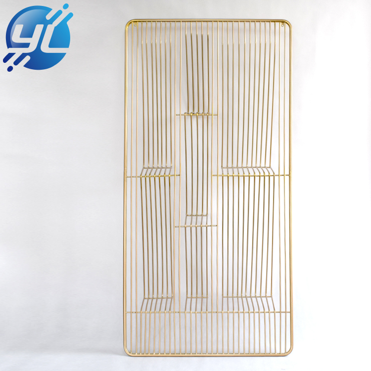 Retail Boutique Gold Wall Mounted T Shirt Clothing Store Display Rack