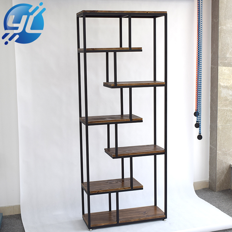 Wrought Iron Bookshelf Display Stand
