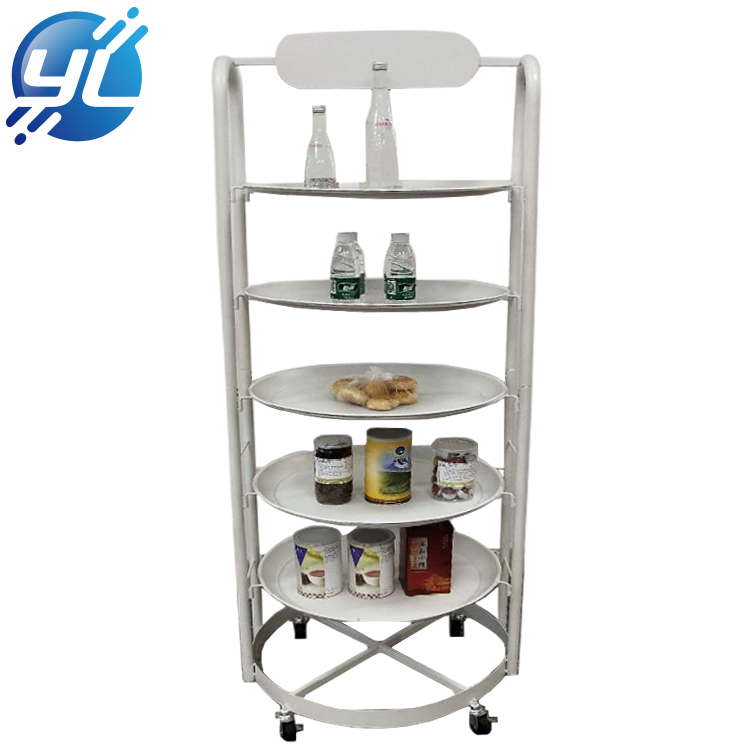 Supermarket food beverage iron wire display stand
