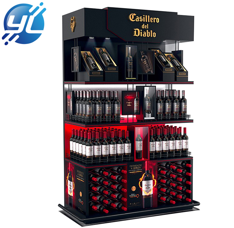 Private Label Custom High End Wooden Wine Cellar Wine Display Cabinets